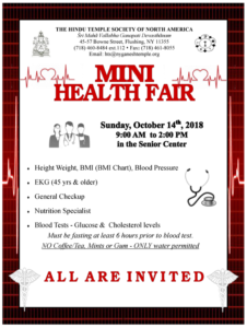 Mini Health Fair 2018