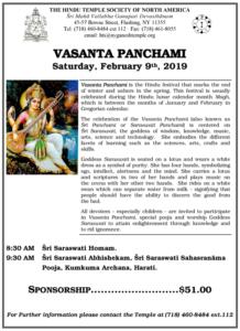Vasanta Panchami19 flyer
