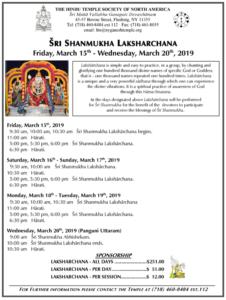 SHANMUKHA LAKSHARCHANA19