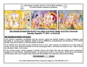 Siddhi-Buddhi KalyanaUtsavam19 FLYER