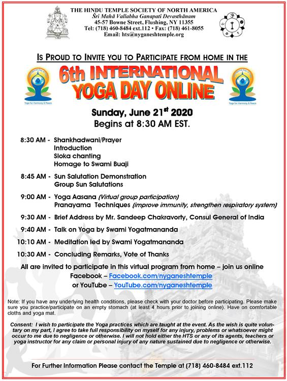 International Yoga Day6'21'20